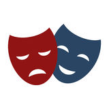 Theater masks vector. Royalty Free Stock Images