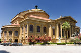 Theater Massimo of Palermo, Sicily, Italy Royalty Free Stock Image
