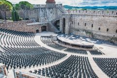 Theater Medieval City Of Carcassonne In France Stock Image