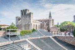 Theater Medieval City Of Carcassonne In France Royalty Free Stock Images