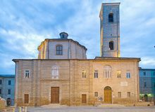 The Theater Moriconi - Jhistorical center of Jesi Italy 2014 July 22 stock photos