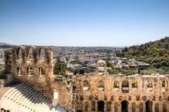 Theater op de Akropolis in Athene, Griekenland Royalty-vrije Stock Foto's