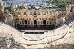Theater op de Akropolis in Athene, Griekenland Royalty-vrije Stock Fotografie