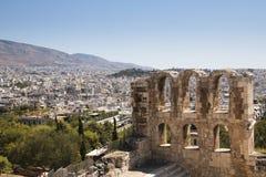 Theater op de Akropolis in Athene, Griekenland Royalty-vrije Stock Afbeelding