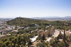 Theater op de Akropolis in Athene, Griekenland Royalty-vrije Stock Foto