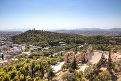 Theater op de Akropolis in Athene, Griekenland Stock Foto's