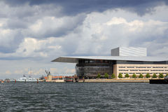 Theater, Opera House in Copenhagen, Denmark. Royalty Free Stock Images