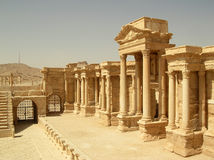 Theater at Palmyra, Syria. Ruins of the ancient caravan city of Palmyra in Syria Stock Photography