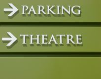 Theater Parking Sign Stock Images