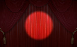 Theater performance. Curtain of a classical theater Royalty Free Stock Photos