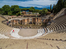 Theater in Pompeii, Italy Stock Photography