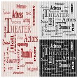 Theater posters, vector Royalty Free Stock Photography