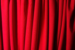 Theater red curtain Stock Image