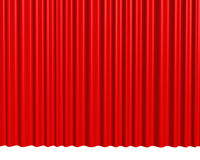 Theater red curtain background Stock Images