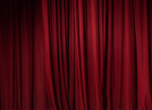 Theater red curtain background Royalty Free Stock Image