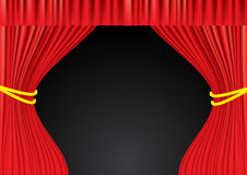 Theater red curtains. Mesh Stock Photography