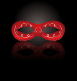 Theater red mask with reflection on black background. Illustration theater red mask with reflection on black background - vector Stock Photos