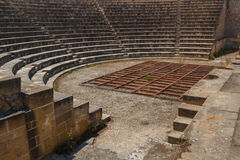 Theater in the ruins of the ancient city of Soli, North Cyprus Royalty Free Stock Images