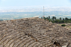 Theater ruins in Hieropolis, Pamukkale, Royalty Free Stock Images