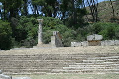 Theater in the ruins of Olympia Royalty Free Stock Photo