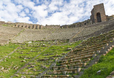 Theater Ruins in Pergamon, Turkey Royalty Free Stock Photos