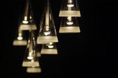 Theater's spotlights. Some triangular spotlights in a theater Royalty Free Stock Photos