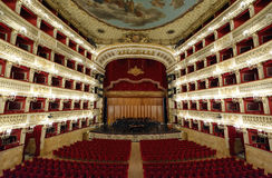 The theater of San Carlo in Naples royalty free stock photography
