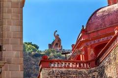Theater San Diego Church El Pipila Statue Guanajuato Mexico royalty-vrije stock foto