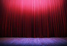 Theater scene, illuminated Royalty Free Stock Photos