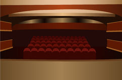 Theater scene vector Royalty Free Stock Photography