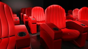 Theater Seating Red Stock Photography