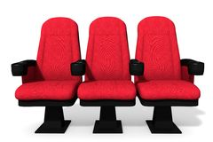 Theater Seats. 3d illustration of theater seats Stock Photos