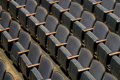 Theater Seats. Rows of seats in a theater for the audience Stock Image