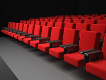 Theater seats. 3d high quality render Royalty Free Stock Images