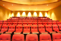 Theater seats in hall Royalty Free Stock Images