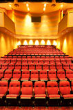 Theater seats in hall stock photography