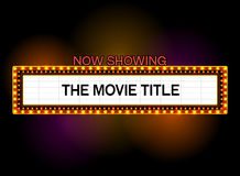 Theater sign with spotlight outdoor. Theater sign.cinema sign.las vegas sign Stock Photography