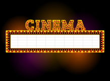 Free Theater Sign With Spotlight Outdoor Royalty Free Stock Images - 90700469