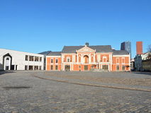 Theater Square in Klaipeda, Lithuania Royalty Free Stock Photos
