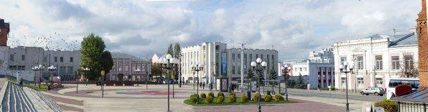 Theater square, panorama of the city .Vladimir. Russia. stock photography