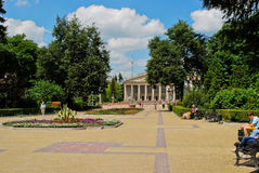 Theater square in Ternopil, Ukraine Stock Photography