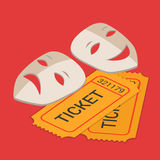 Theater stage art show ticket booking flat 3d isometric vector Royalty Free Stock Photography