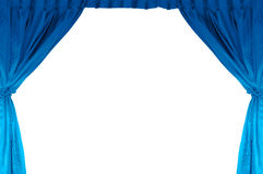 Theater stage with blue curtain Stock Photo