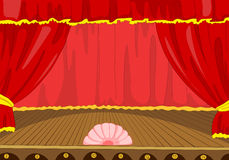 Theater Stage Cartoon Royalty Free Stock Image