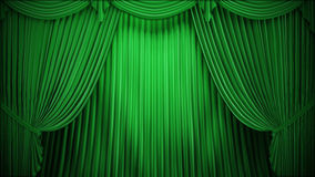 Theater or stage curtain Stock Photo