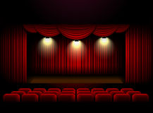 Theater stage curtain background. Vector illustration Royalty Free Stock Photo