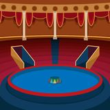 Theater stage with curtains entertainment spotlights theatrical scene interior old opera performance background vector. Theater stage with curtains and Stock Image