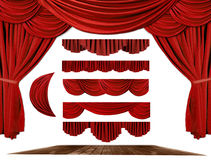 Theater STage Drape Elements to Create Your Own Ba stock image
