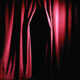 Theater Stage Draped With Curtains Royalty Free Stock Image