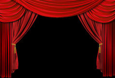 Theater stage drapes Royalty Free Stock Photo